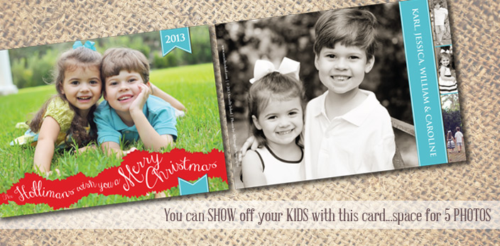 Our Cards can accommodate up to 5 photos